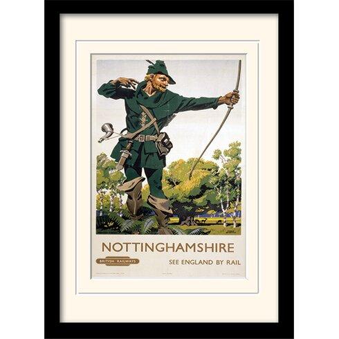 Nottinghamshire Mounted Framed Vintage Advertisement