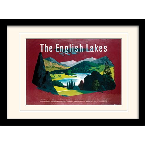 The English Lakes Framed Vintage Advertisement