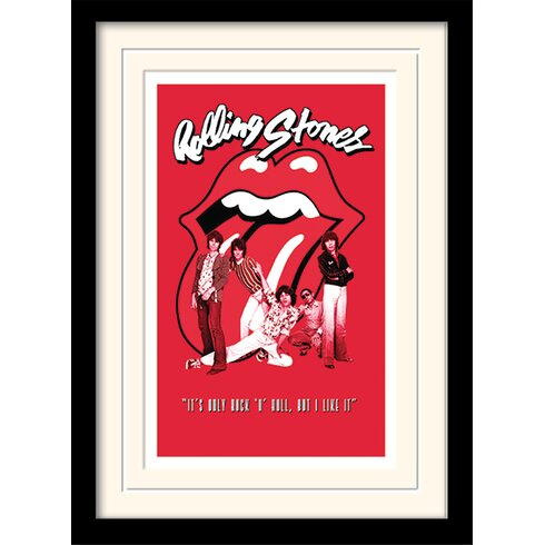 Rolling Stones It's Only Rock n Roll Framed Vintage Advertisement