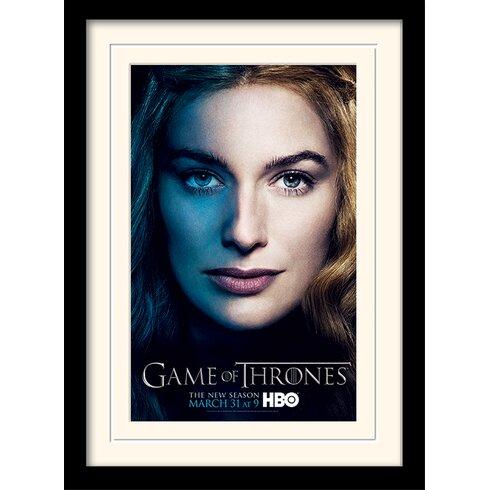 Game of Thrones Season 3 - Cersei Framed Vintage Advertisement