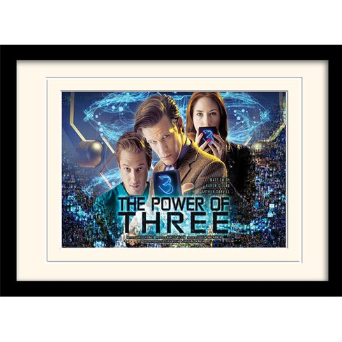 Doctor Who Power of 3 Framed Vintage Advertisement