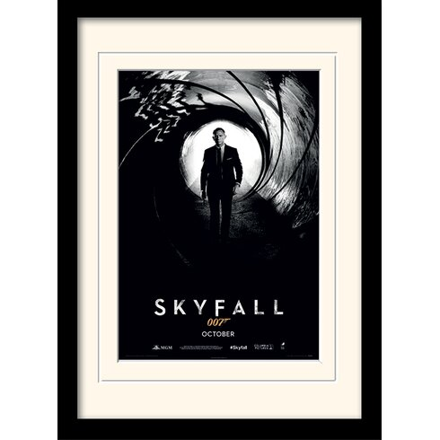 "James Bond ""Skyfall Teaser"" Framed Vintage Advertisement"