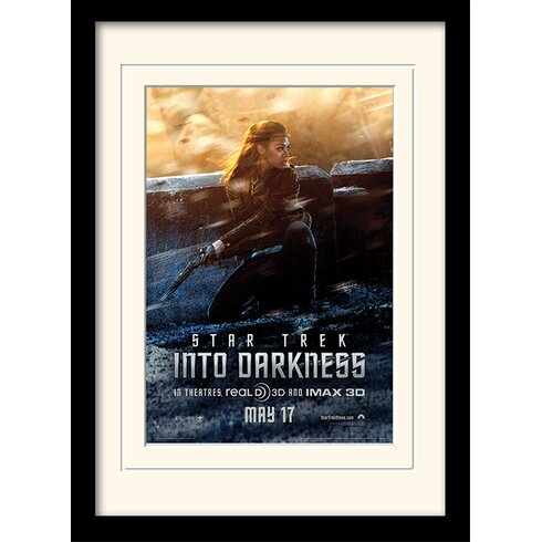 Into Darkness - Uhura Banner by Star Trek Mounted Framed Vintage Advertisement