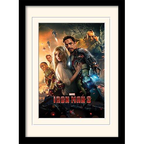 "Iron Man 3 ""One sheet"" Framed Vintage Advertisement"