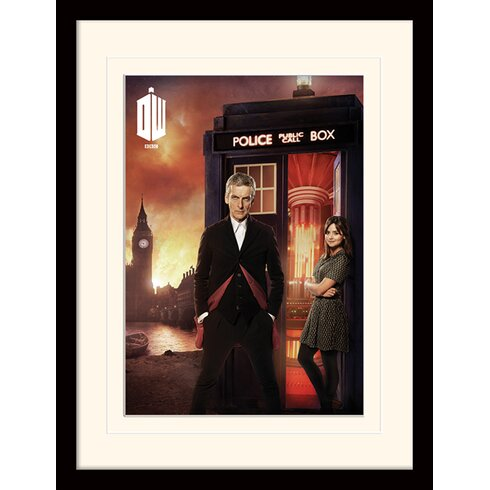 Doctor Who London Fire Framed Vintage Advertisement