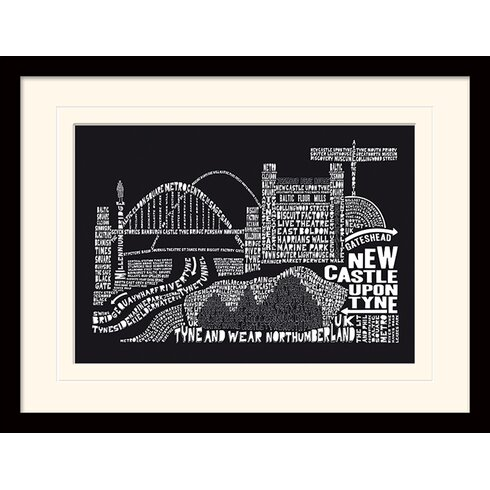 Citography Newcastle Framed Graphic Art