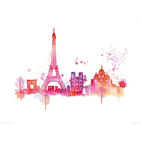 Paris Skyline by Summer Thornton Graphic Art