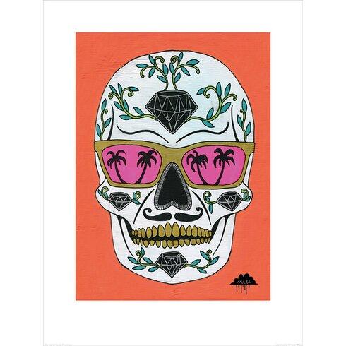 Mulga, Schubert the Diamond Sugar Skull Graphic Art