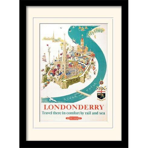 Londonderry Mounted Framed Vintage Advertisement