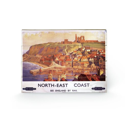 North East Coast Vintage Advertisement Plaque