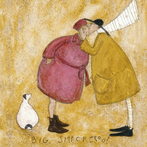 'Big Smackeroo' by Sam Toft Wall art on Canvas