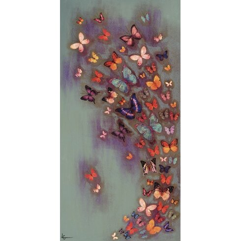 'Mottled Aubergine' by Lily Greenwood Framed Graphic Art Print on Canvas