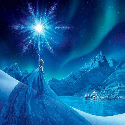 Frozen, Elsa Ice Star Vintage Advertisement Canvas Wall Art