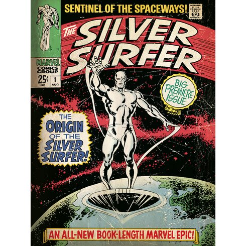 The Origin - Silver Surfer Poster Vintage Advertisement on Canvas