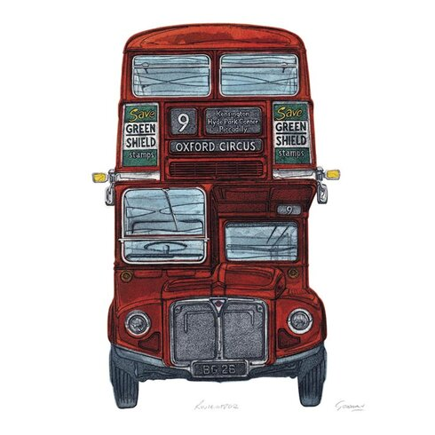 Routemaster by Barry Goodman Canvas Wall Art