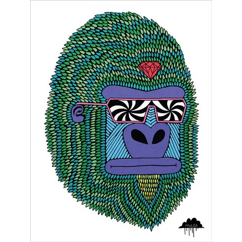 Mulga, Herbert the Hypno Ape Canvas Wall Art