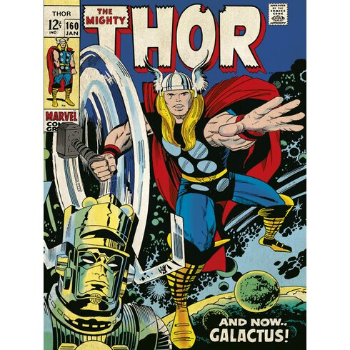 Thor - Galactus Vintage Advertisement on Canvas