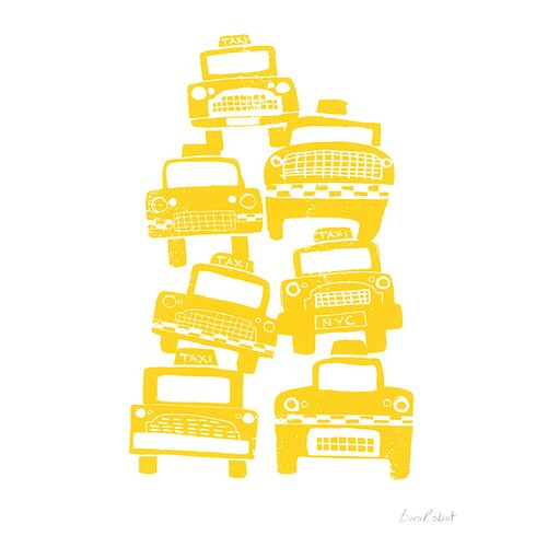 Cabs by BiroRobot Canvas Wall Art
