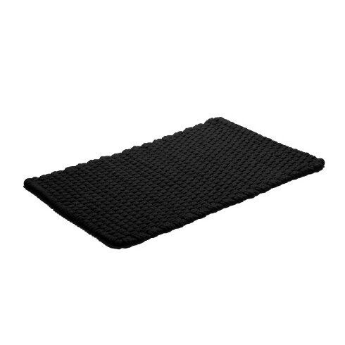 Rope Black Area Rug