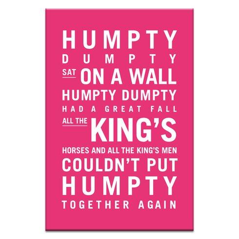 Humpty Dumpty by Nursery Canvas Art in Pink