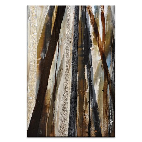 Treeline #1 by Katherine Boland Graphic Art Print on Wrapped Canvas in Olive