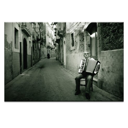 La Fisarmonica by Joe Vittorio Photographic Print Wrapped on Canvas