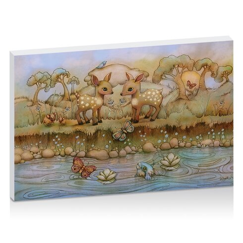 Riverside by Karin Taylor Art Print Wrapped on Canvas