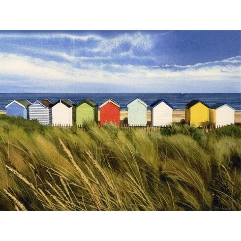 Beach Huts, Southwold by Margaret Heath Art Print on Canvas