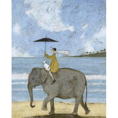 On The Edge of the Sand by Sam Toft Canvas Wall Art