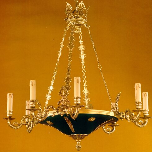 Empire 9 Light Candle Chandelier