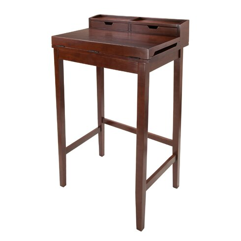 Winsome Brighton Secretary Desk with Hutch & Reviews | Wayfair
