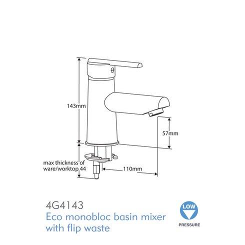 Pulsar Monobloc Basin Mixer