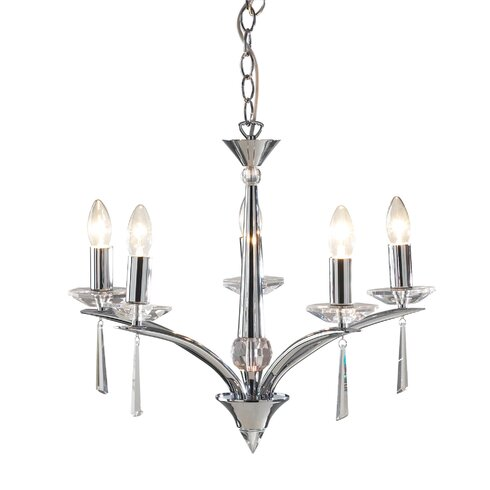 Hyperion 5 Light Candle Chandelier