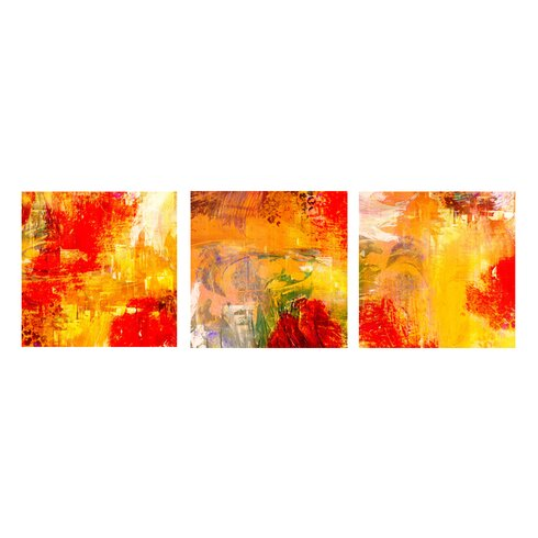Ready2hangart abstract 3 piece graphic art on canvas set for Kitchen cabinets lowes with three piece canvas wall art