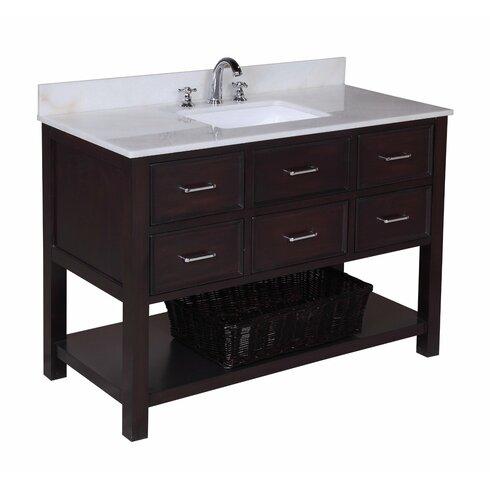 kbc new hampshire 48 single bathroom vanity set reviews wayfair. Black Bedroom Furniture Sets. Home Design Ideas