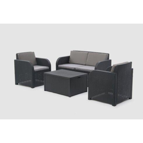 Modena 4 Seater Sofa Set with Cushions