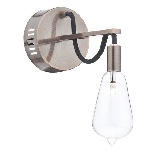 Scroll 1 Light Semi-Flush Wall Light