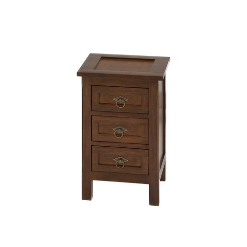 Durni 3 Drawer Bedside Table