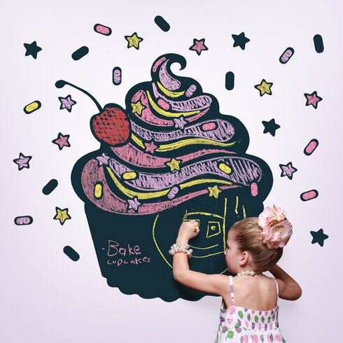 Cupcake Chalkboard Wall Decal