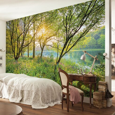Brewster home fashions komar spring lake wall mural for Brewster home fashions komar wall mural