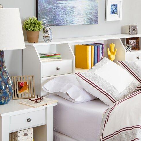 andover mills revere bookcase headboard  reviews  wayfair, Headboard designs