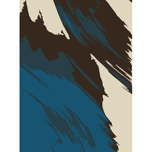 Bomba Blue/Black Area Rug