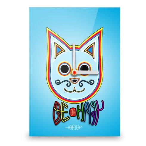 Simon the Cat Be Happy Wall Clock