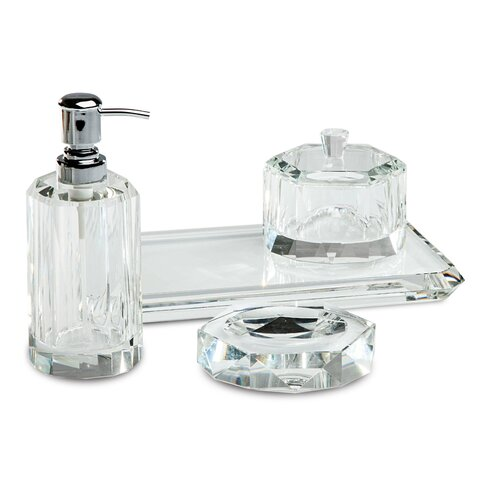 Paradigm trends cora 5 piece bathroom accessory set for Bathroom 5 piece set