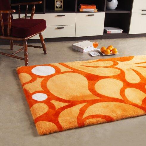 Shortwool Design Hand-Woven Orange Area Rug