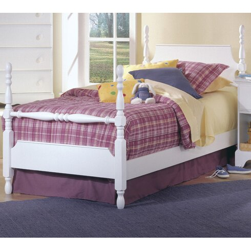 carolina furniture works inc carolina cottage twin four poster bed reviews wayfair. Black Bedroom Furniture Sets. Home Design Ideas