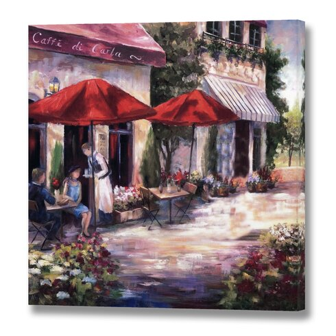 'Caffe Di Carla' Painting Print on Canvas