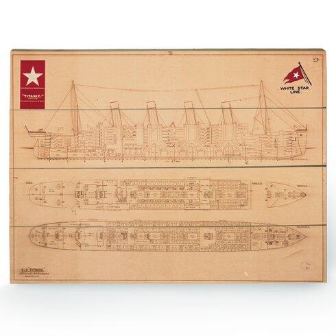 Titanic Graphic Art Plaque