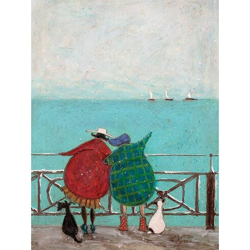 'We Saw Three Ships Come Sailing' by Sam Toft Framed Wall art on Canvas