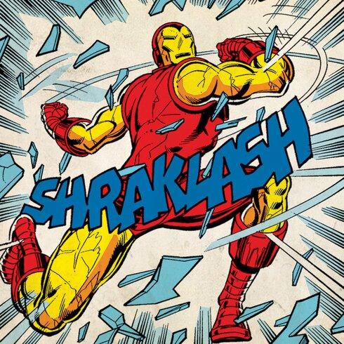 Marvel Comics Iron Man Shraklash! Vintage Advertisement Canvas Wall Art